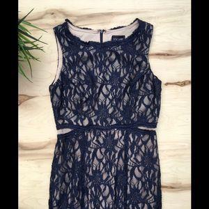 Xscape Maxi lace sparkle dress NWT